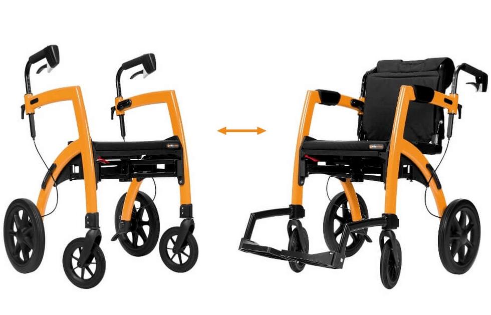 Rollz Motion - Rollator und Rollstuhl in einem. Ideal auf Reisen.