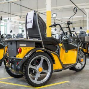 Kyburz DXP - der Elektro Scooter der Schweizer Post