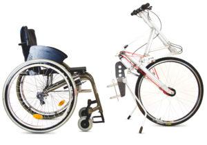 Handantriebseinheit vom Stringbike für Rollstühle