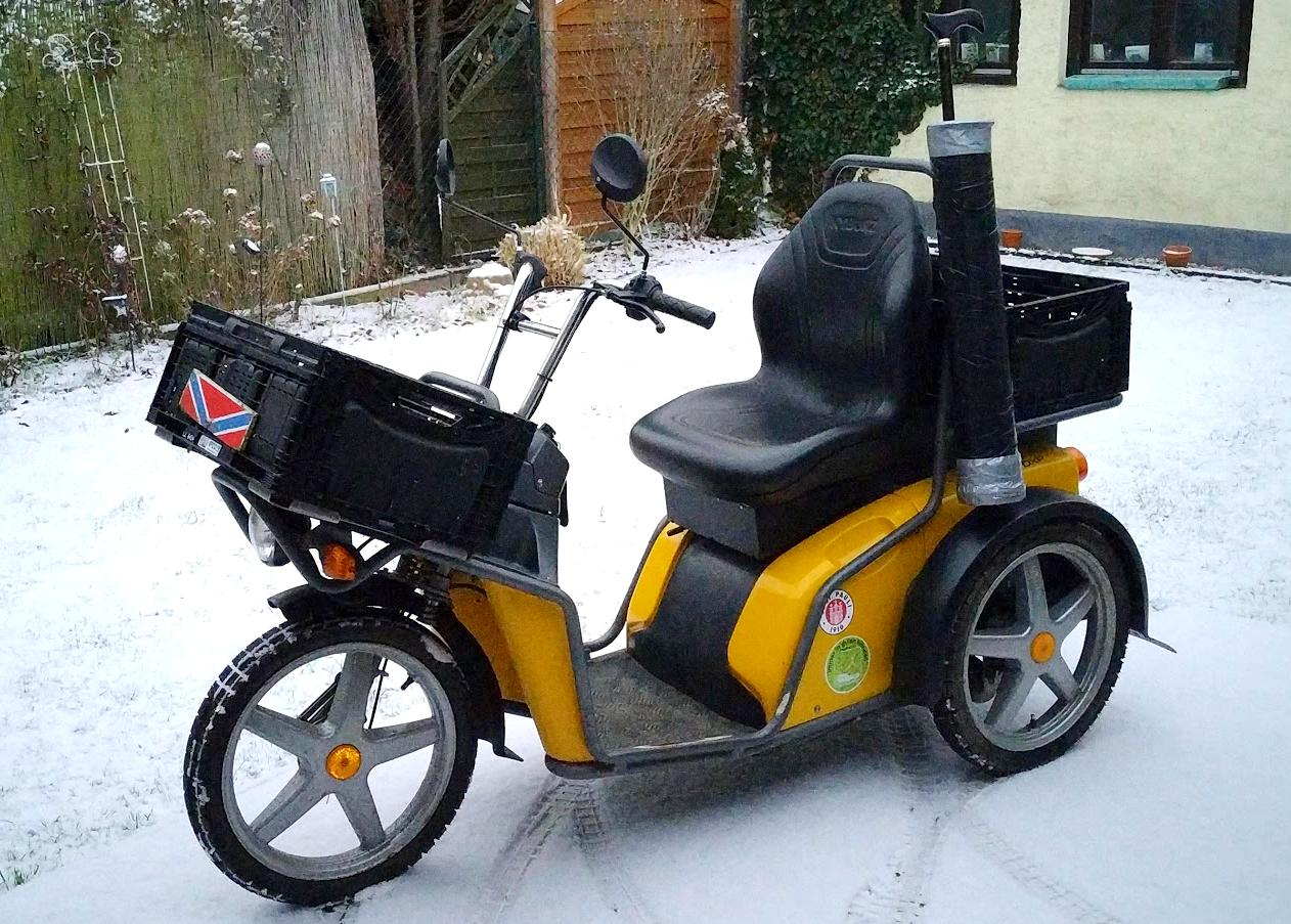Kyburz DXP sicher im Winter unterwegs
