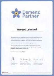 Demenz Partner Marcus Leonard